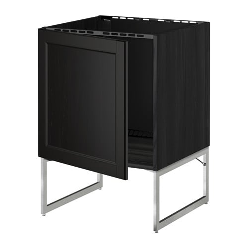metod unterschrank f r sp le holzeffekt schwarz laxarby schwarzbraun ikea. Black Bedroom Furniture Sets. Home Design Ideas