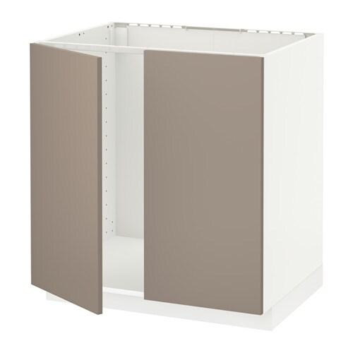 metod unterschrank f r sp le 2 t ren wei ubbalt. Black Bedroom Furniture Sets. Home Design Ideas