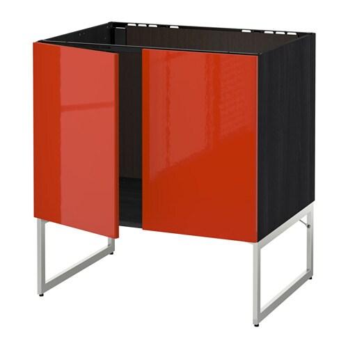 metod unterschrank f r sp le 2 t ren holzeffekt schwarz j rsta hochglanz orange ikea. Black Bedroom Furniture Sets. Home Design Ideas