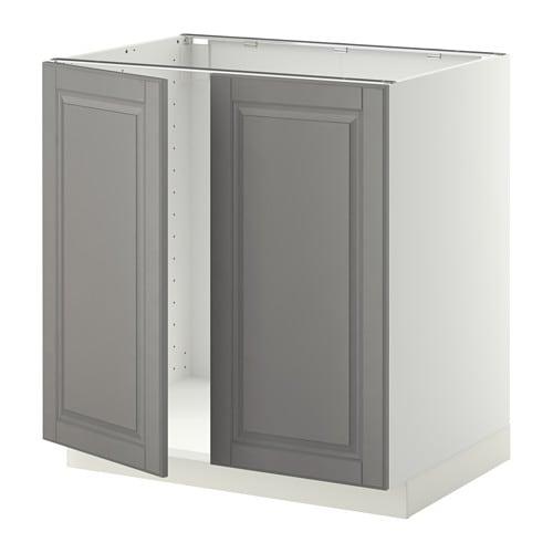 metod unterschrank f r sp le 2 t ren wei bodbyn grau. Black Bedroom Furniture Sets. Home Design Ideas