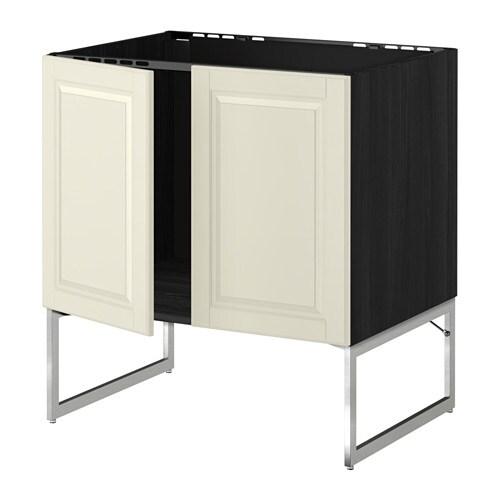 metod unterschrank f r sp le 2 t ren holzeffekt schwarz bodbyn elfenbeinwei ikea. Black Bedroom Furniture Sets. Home Design Ideas
