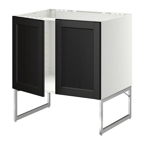 metod unterschrank f r sp le 2 t ren wei laxarby schwarzbraun ikea. Black Bedroom Furniture Sets. Home Design Ideas