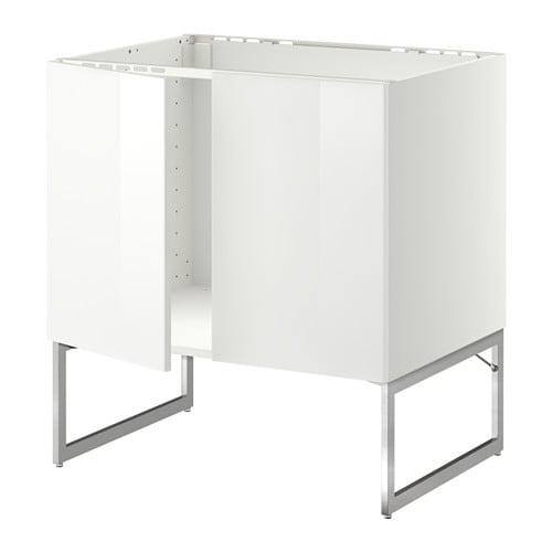 Ikea Trones Cipősszekreny Eladó ~ METOD Unterschrank für Spüle + 2 Türen  , Ringhult Hochglanz weiß