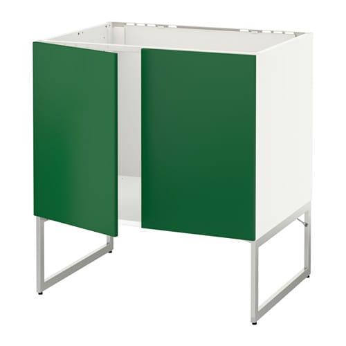 metod unterschrank f r sp le 2 t ren wei fl die gr n. Black Bedroom Furniture Sets. Home Design Ideas