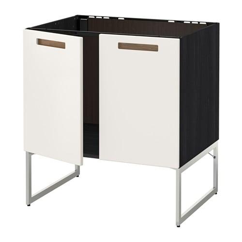metod unterschrank f r sp le 2 t ren holzeffekt schwarz m rsta wei ikea. Black Bedroom Furniture Sets. Home Design Ideas