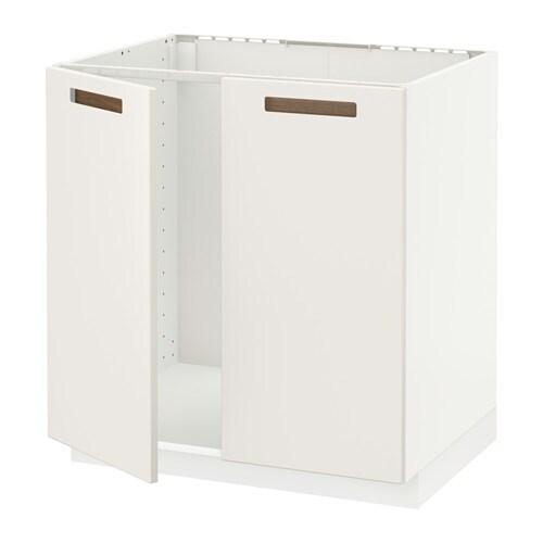 Ikea Hemnes Nightstand White ~ METOD Unterschrank für Spüle + 2 Türen Das Grundelement ist stabil
