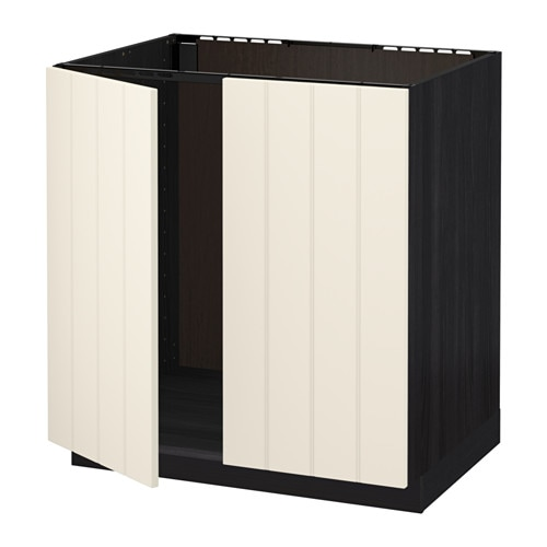 metod unterschrank f r sp le 2 t ren holzeffekt schwarz hittarp elfenbeinwei ikea. Black Bedroom Furniture Sets. Home Design Ideas