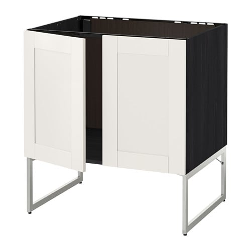 metod unterschrank f r sp le 2 t ren holzeffekt schwarz s vedal wei ikea. Black Bedroom Furniture Sets. Home Design Ideas