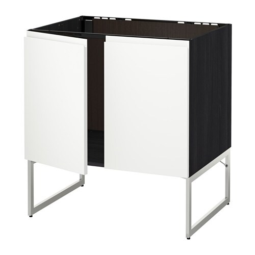 metod unterschrank f r sp le 2 t ren holzeffekt schwarz voxtorp wei ikea. Black Bedroom Furniture Sets. Home Design Ideas