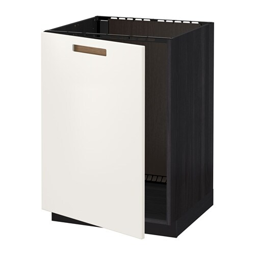 Ikea Unterschrank Für Kühlschrank ~   Unterschrank für Spüle  Holzeffekt schwarz, Märsta weiß  IKEA