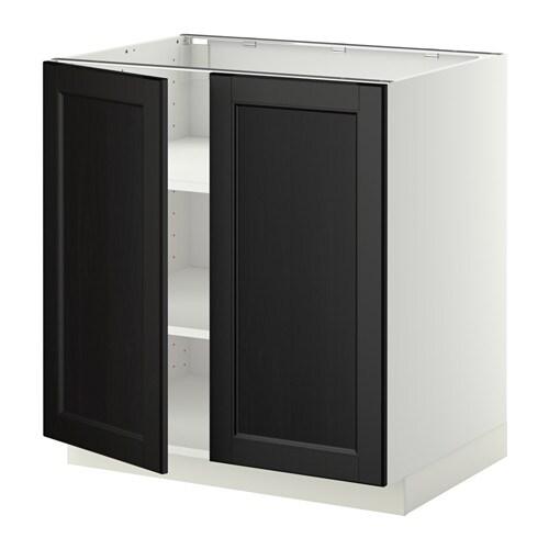 Böden2Türen  weiß, Laxarby schwarzbraun, 80×60 cm  IKEA