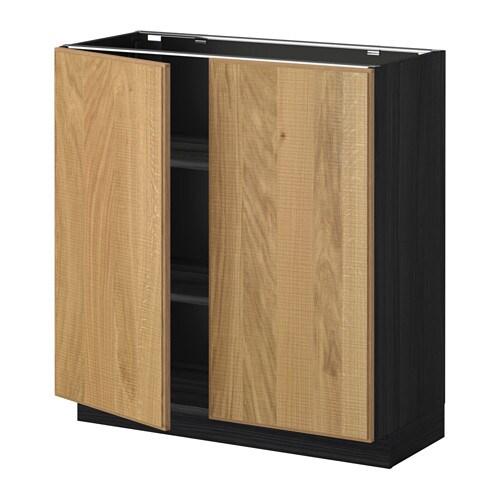 metod unterschrank m b den 2t ren holzeffekt schwarz hyttan eichenfurnier 80x37 cm ikea. Black Bedroom Furniture Sets. Home Design Ideas