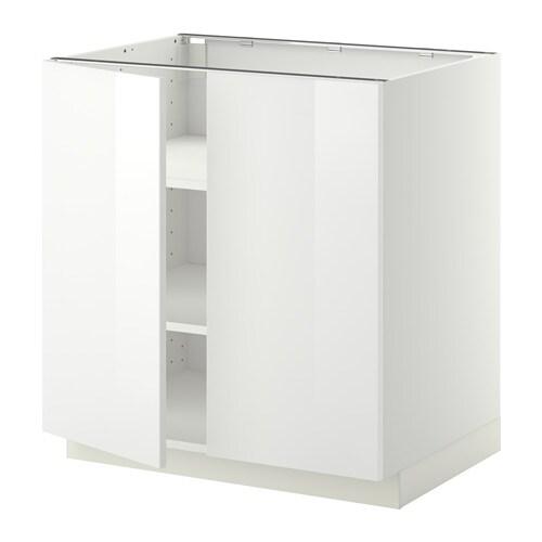 metod unterschrank m b den 2t ren wei ringhult hochglanz wei 80x60 cm ikea. Black Bedroom Furniture Sets. Home Design Ideas