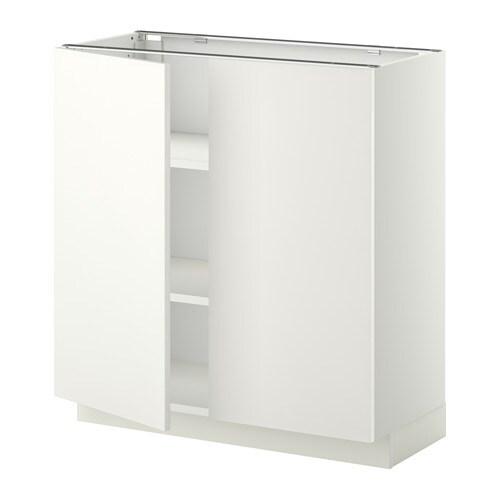 metod unterschrank m b den 2t ren wei h ggeby wei 80x37 cm ikea. Black Bedroom Furniture Sets. Home Design Ideas