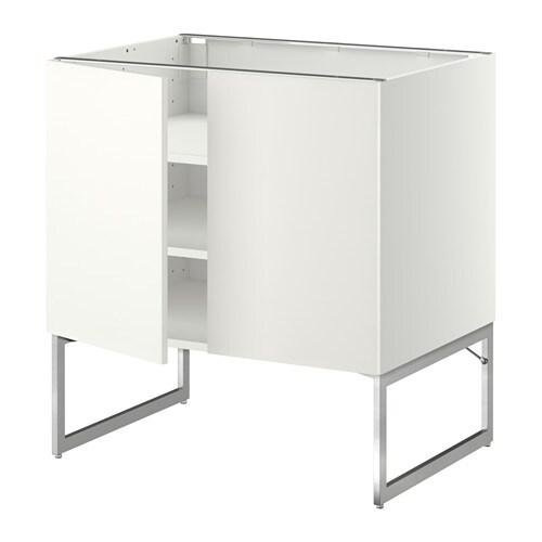 metod unterschrank m b den 2t ren wei h ggeby wei 80x60x60 cm ikea. Black Bedroom Furniture Sets. Home Design Ideas