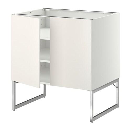 metod unterschrank m b den 2t ren wei veddinge wei 80x60x60 cm ikea. Black Bedroom Furniture Sets. Home Design Ideas