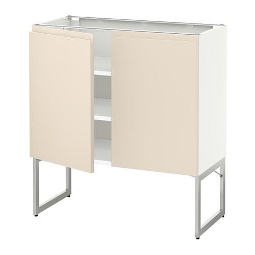 metod unterschrank m b den 2t ren wei voxtorp hellbeige 80x37x60 cm ikea. Black Bedroom Furniture Sets. Home Design Ideas