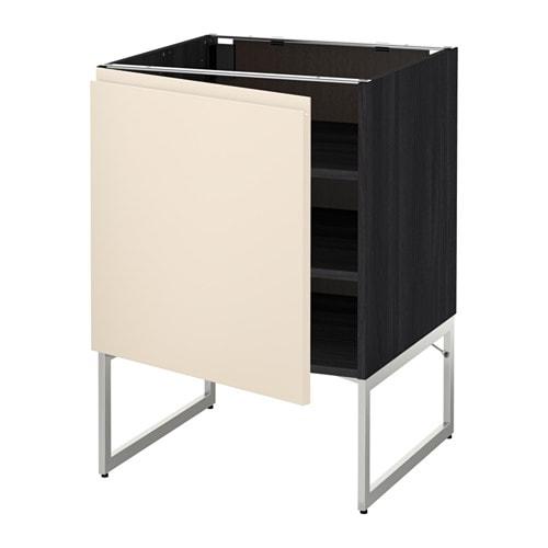 metod unterschrank mit b den holzeffekt schwarz voxtorp hellbeige 60x60x60 cm ikea. Black Bedroom Furniture Sets. Home Design Ideas