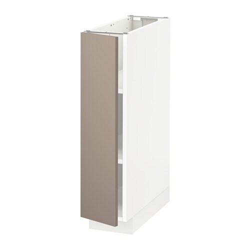 Metod Unterschrank Mit Boden Weiss Ubbalt Dunkelbeige 20x60 Cm Ikea