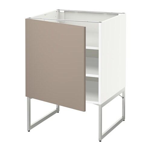 metod unterschrank mit b den wei ubbalt dunkelbeige 60x60x60 cm ikea. Black Bedroom Furniture Sets. Home Design Ideas