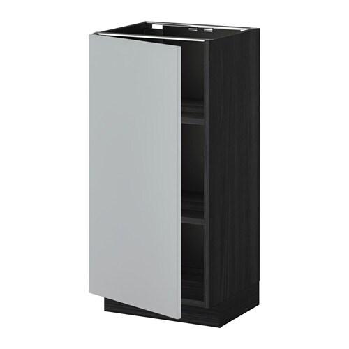metod unterschrank mit b den holzeffekt schwarz veddinge grau 40x37 cm ikea. Black Bedroom Furniture Sets. Home Design Ideas