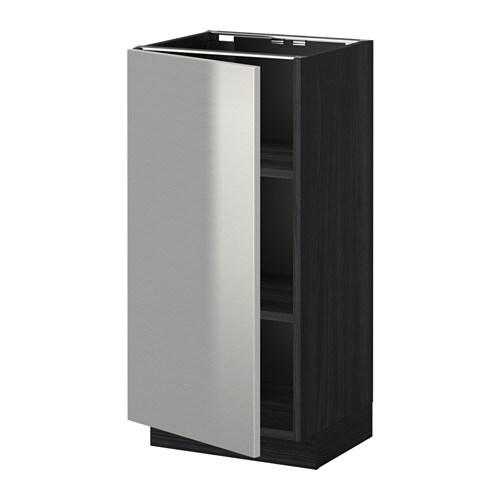 metod unterschrank mit b den holzeffekt schwarz grevsta edelstahl 40x37 cm ikea. Black Bedroom Furniture Sets. Home Design Ideas