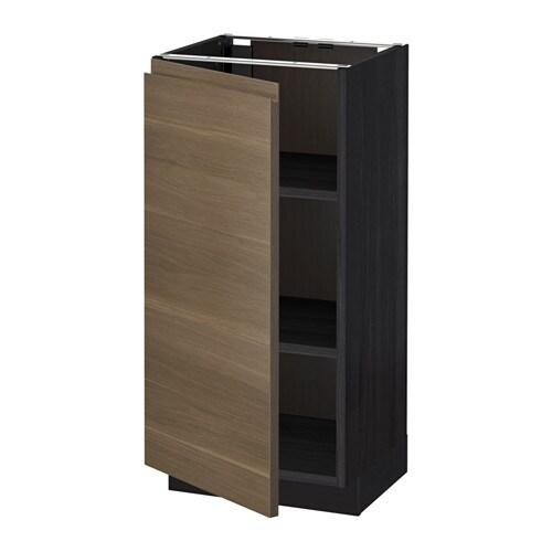 metod unterschrank mit b den holzeffekt schwarz voxtorp nussbaumnachbildung 40x37 cm ikea. Black Bedroom Furniture Sets. Home Design Ideas