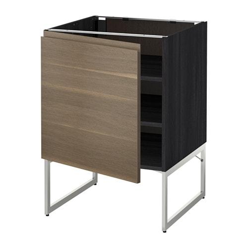 metod unterschrank mit b den holzeffekt schwarz voxtorp nussbaumnachbildung 60x60x60 cm ikea. Black Bedroom Furniture Sets. Home Design Ideas