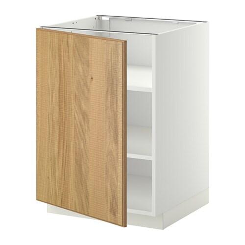 metod unterschrank mit b den wei hyttan eichenfurnier 60x60 cm ikea. Black Bedroom Furniture Sets. Home Design Ideas