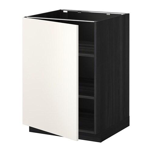 metod unterschrank mit b den holzeffekt schwarz veddinge wei 60x60 cm ikea. Black Bedroom Furniture Sets. Home Design Ideas