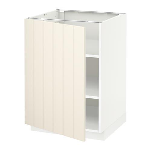 metod unterschrank mit b den wei hittarp elfenbeinwei 60x60 cm ikea. Black Bedroom Furniture Sets. Home Design Ideas