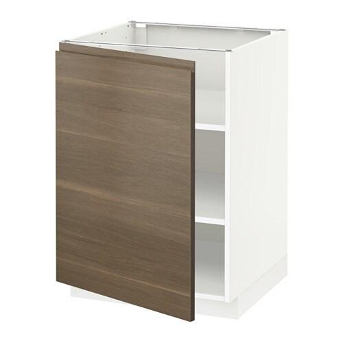metod unterschrank mit b den wei voxtorp nussbaumnachbildung 60x60 cm ikea. Black Bedroom Furniture Sets. Home Design Ideas
