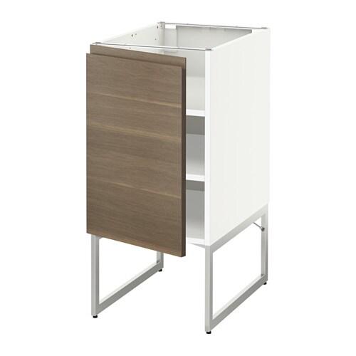 metod unterschrank mit b den wei voxtorp nussbaumnachbildung 40x60x60 cm ikea. Black Bedroom Furniture Sets. Home Design Ideas