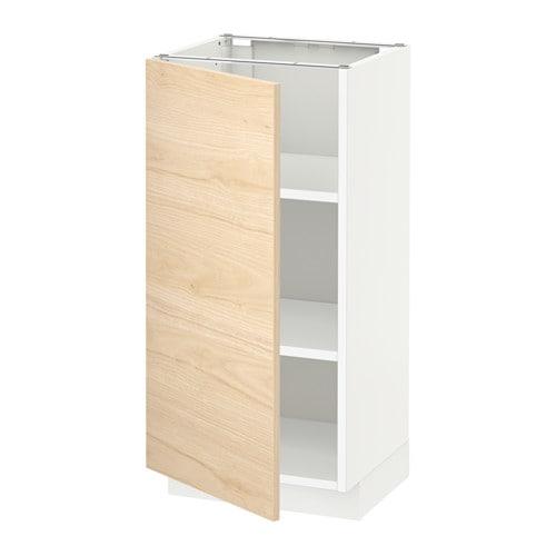 Küchen unterschrank ikea  METOD Unterschrank mit Böden - weiß, Askersund Eschenachbildung hell ...