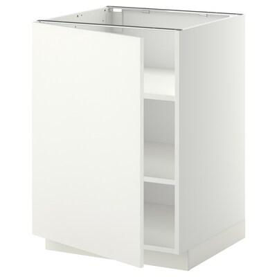 METOD Unterschrank mit Böden, weiß/Häggeby weiß, 60x60 cm