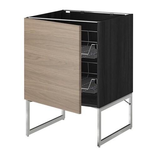 Aspelund Kleiderschrank Von Ikea ~ METOD Unterschrank mit Drahtkörben Leicht laufende Drahtkörbe mit