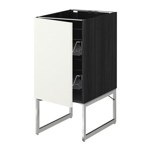 metod unterschrank mit drahtk rben holzeffekt schwarz h ggeby wei 40x60x60 cm ikea. Black Bedroom Furniture Sets. Home Design Ideas