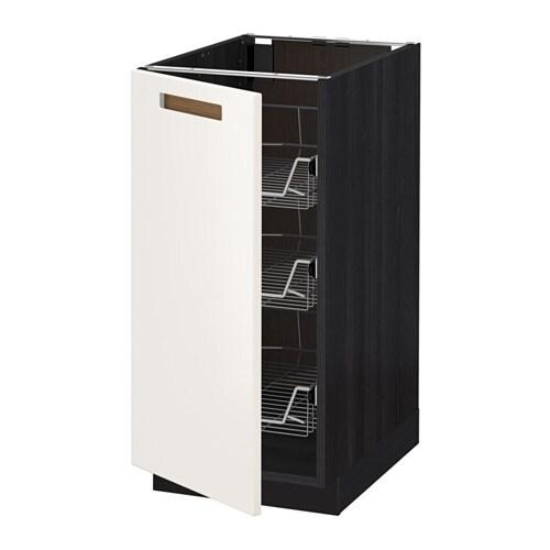 metod unterschrank mit drahtk rben holzeffekt schwarz m rsta wei 40x60 cm ikea. Black Bedroom Furniture Sets. Home Design Ideas