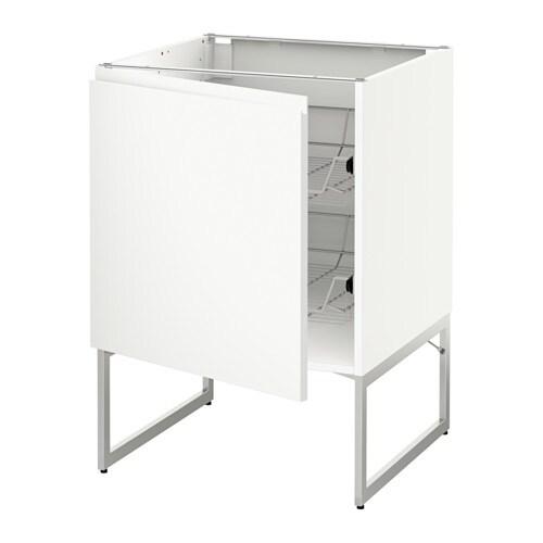 metod unterschrank mit drahtk rben wei voxtorp wei 60x60x60 cm ikea. Black Bedroom Furniture Sets. Home Design Ideas