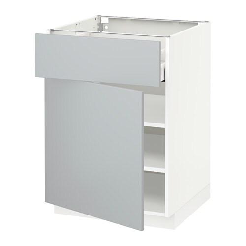metod unterschrank mit schublade t r wei veddinge grau 60x60 cm ikea. Black Bedroom Furniture Sets. Home Design Ideas
