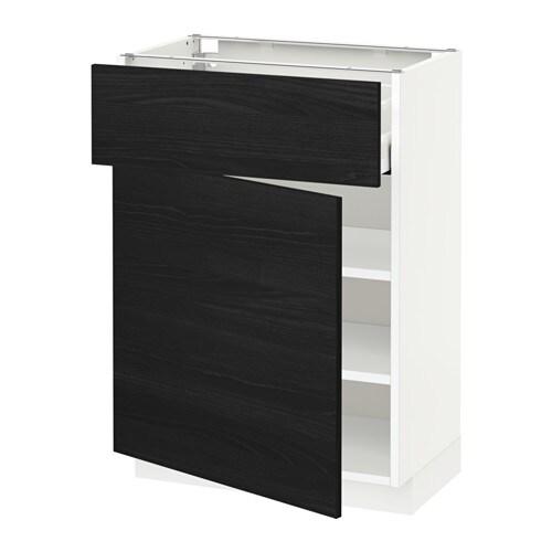 metod unterschrank mit schublade t r wei tingsryd holzeffekt schwarz 60x37 cm ikea. Black Bedroom Furniture Sets. Home Design Ideas