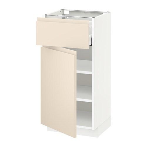 metod unterschrank mit schublade t r wei voxtorp hellbeige 40x37 cm ikea. Black Bedroom Furniture Sets. Home Design Ideas