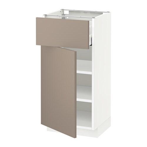 metod unterschrank mit schublade t r wei ubbalt. Black Bedroom Furniture Sets. Home Design Ideas