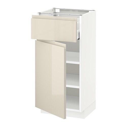 metod unterschrank mit schublade t r wei voxtorp hochglanz hellbeige 40x37 cm ikea. Black Bedroom Furniture Sets. Home Design Ideas