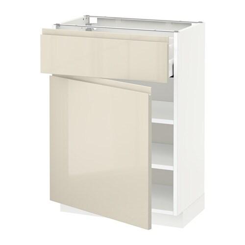metod unterschrank mit schublade t r wei voxtorp hochglanz hellbeige 60x37 cm ikea. Black Bedroom Furniture Sets. Home Design Ideas
