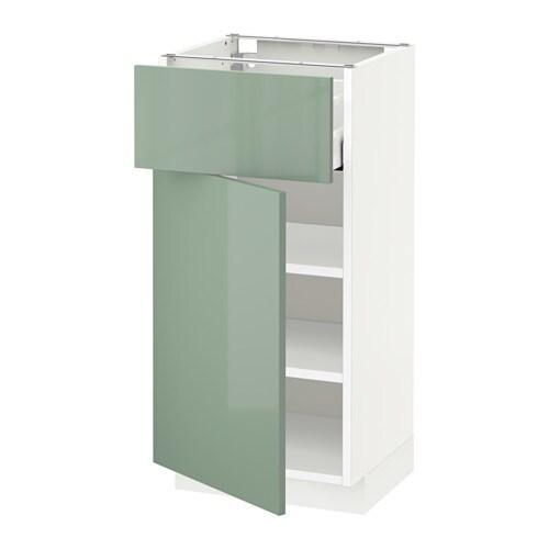 metod unterschrank mit schublade t r wei kallarp hochglanz hellgr n 40x37 cm ikea. Black Bedroom Furniture Sets. Home Design Ideas