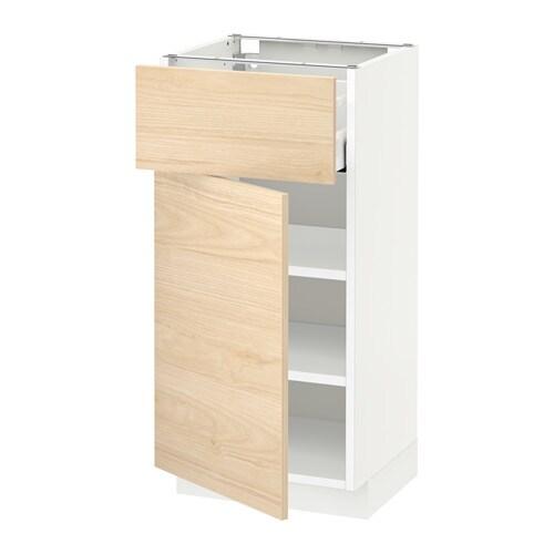 metod unterschrank mit schublade t r wei askersund eschenachbildung hell 40x37 cm ikea. Black Bedroom Furniture Sets. Home Design Ideas