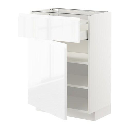 metod unterschrank mit schublade t r wei voxtorp hochglanz wei 60x37 cm ikea. Black Bedroom Furniture Sets. Home Design Ideas