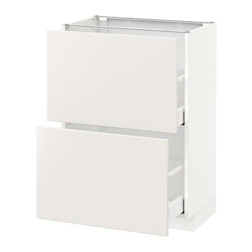 METOD Unterschrank mit 2 Schubladen - weiß, Veddinge weiß ...