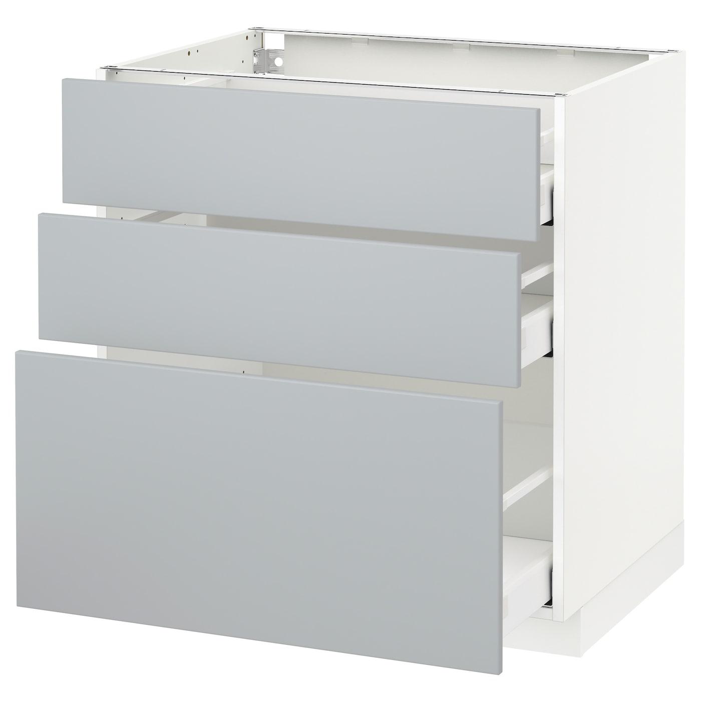 METOD, Unterschrank mit 3 Schubladen, weiß 792.792.64